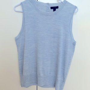 Pale blue JCREW 100% merino wool shell. Size M